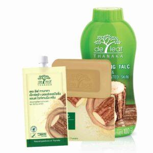 Kit Anti Ancé: talco, jabón y crema de thanaka